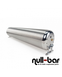 """28"""" FLO Tank -  Raw end caps with brushed tube"""