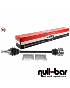 Mapco 16773HPS | shorter thinner driveshaft passenger side with Ø100mm transmission side