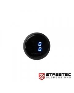 STREETEC - blue digital pressure gauge