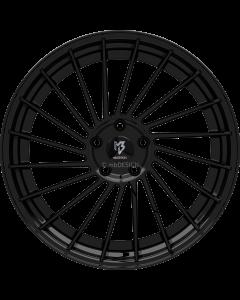 mbDESIGN VR3.2 | 9x21 ET 28 - 5x120 75 wheel center and rim black shiny painted