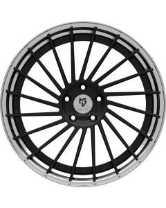 mbDESIGN VR3.2 | 9x21 ET 28 - 5x120 75 wheel center black matt powder-coated rim black shiny polish