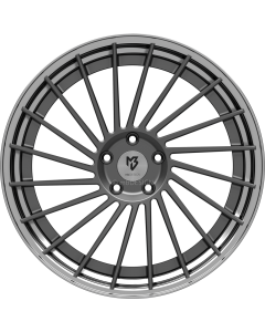 mbDESIGN VR3.2 | 9x21 ET 28 - 5x120 75 wheel center grey matt painted rim black shiny polish
