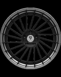 mbDESIGN VR3.2 | 9x21 ET 28 - 5x120 75 wheel center black matt powder-coated rim grey matt painted