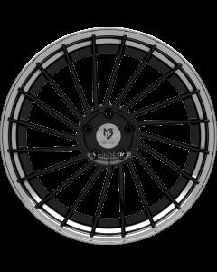 mbDESIGN VR3.2 DC | 10,5x20 ET 33 - 5x112 75 wheel center black shiny painted rim black shiny polish