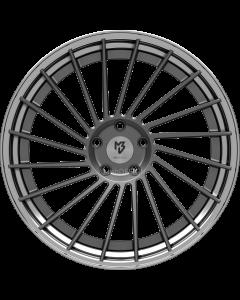 mbDESIGN VR3.2 DC | 10,5x21 ET 40 - 5x120 72,55 Stern Grau matt lackiert Bett Glanzschwarz poliert