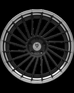 mbDESIGN VR3.2 DC | 10,5x20 ET 33 - 5x112 75 wheel center black matt powder-coated rim black shiny polish