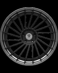 mbDESIGN VR3.2 DC | 10,5x20 ET 33 - 5x112 75 wheel center black matt powder-coated rim grey matt painted