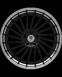 mbDESIGN VR3.2 | 9x21 ET 28 - 5x120 75 wheel center black shiny painted rim black shiny polish