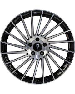 mbDESIGN VR3 | 8,5x20 ET 45 - 5x114,3 75 black shiny painted, front polish