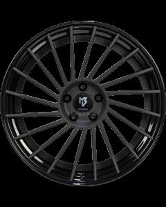 mbDESIGN VR3.2 | 9x21 ET 28 - 5x120 75 wheel center black matt powder-coated rim black shiny painted
