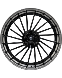 mbDESIGN VR3.2 DC | 10,5x20 ET 33 - 5x112 75 wheel center black shiny rim grey matt painted