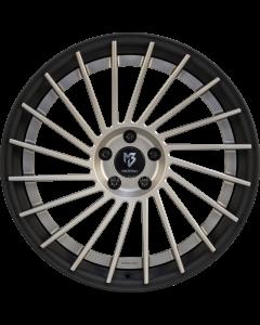 mbDESIGN VR3.2 DC | 10,5x20 ET 33 - 5x112 75 wheel center champagne matt painted rim black matt powder-coated