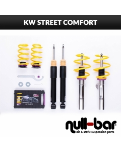 KW coilover suspension Street Comfort inox (incl. cancellation for electr. dampers) - MERCEDES-BENZ C-KLASSE (W204) C 220 CDI (204.002)