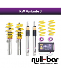 KW coilover suspension variant 3 inox (incl. cancellation for electr. dampers) - MERCEDES-BENZ C-KLASSE (W204) C 220 CDI (204.002)