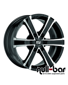 MSW SAHARA 6 | 8x18 ET 43 - 6x114,3  gloss black front polished