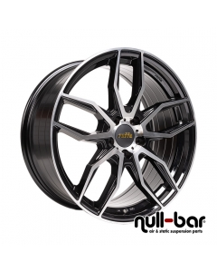 Raffa RS-04 | 8,5x20 ET 45 - 5x112 66,6 Glossy Black Polished