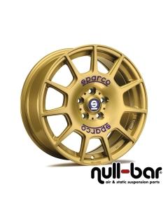 SPARCO SPARCO TERRA | 7,5x17 ET 48 - 5x100 63,3 race gold + blue lettering