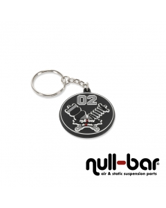 null-bar 'crossed struts' key chain