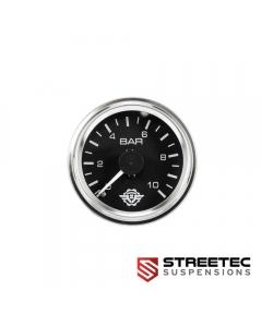 STREETEC - analog dual pressure gauge 0-10 bar