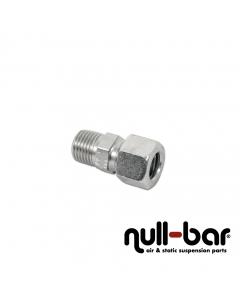 """Hardline-Fitting silber - 1/4"""" G Außengewinde   10 mm Schraub"""