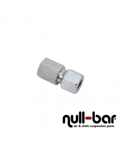 """Hardline-Fitting silber - 1/4"""" G Innengewinde   10 mm Schraub"""