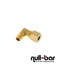 """Hardline-L-Fitting Messing - 1/4"""" G Innengewinde   10 mm Schraub"""