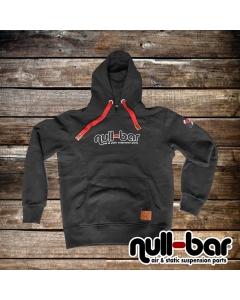 null-bar Hoodie black&red