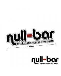 null-bar windscreen sticker - 37cm