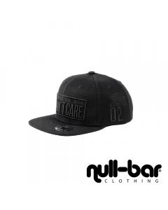 null-bar 'static or air' Snapback Black edition