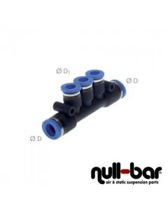 Merfach T-Verteiler - 10mm Steck / 6mm Steck