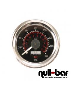 Viair - Analog dual pressure gauge 0-160 psi