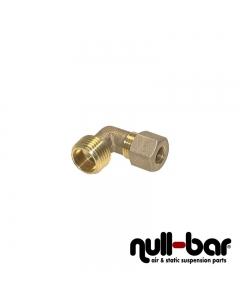 "Hardlineverbinder 90° Winkel | Hardline Außengewinde - Messing - 10mm Hardline / 1/4"" AG"