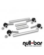 null-bar Ersatzkoppelstangen (Paar) | universal einstellbar 150 - 330mm